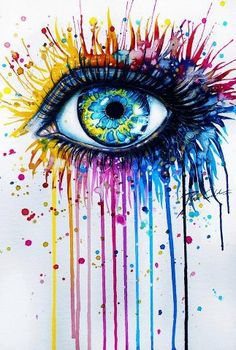 eye dripping colors