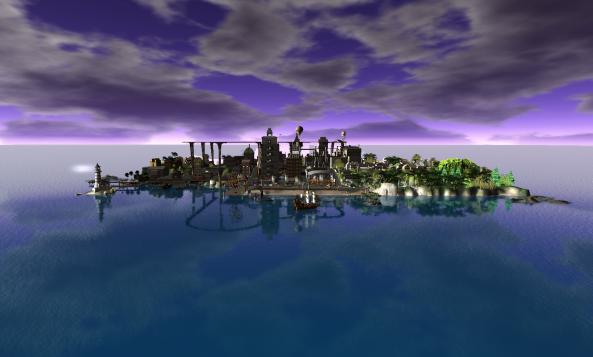 AAcme City purple sky